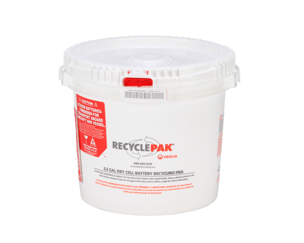 SUPPLY-041- 3.5 GAL DRY CELL BATTERY RECYCLING PAIL
