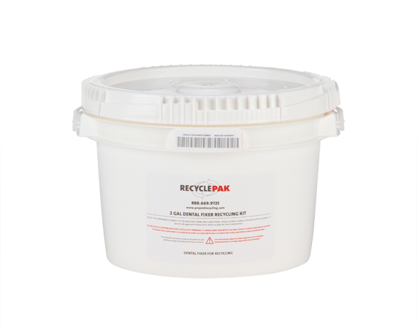 SUPPLY-063- 2 GAL DENTAL FIXER RECYCLING PAIL