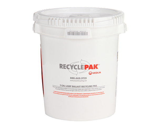 SUPPLY-040- 5 GAL LAMP BALLAST RECYCLING PAIL
